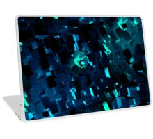 Blue and Teal Abstract Blocks Laptop Skin