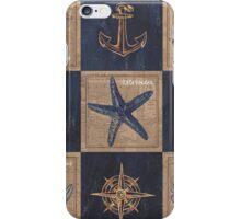 Burlap Shellfish Collage iPhone Case/Skin