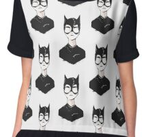 Catwoman Chiffon Top