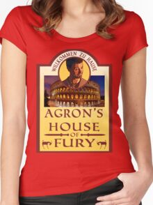 Agron's House of Fury (Spartacus) Women's Fitted Scoop T-Shirt