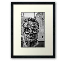A face in Bruge Framed Print