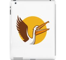 Pelican Flying Up Circle Retro iPad Case/Skin