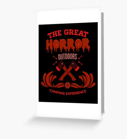 Horror Camp Greeting Card