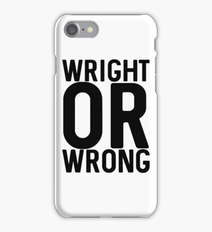 Wright iPhone Case/Skin