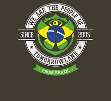 People of Tomorrowland Flags logo Badge - Brazil - Brazilian -Brasileiro Unisex T-Shirt