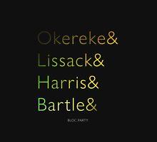 Bloc Party Surnames (New Lineup) Unisex T-Shirt