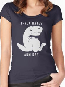 T-rex hates arm day Women's Fitted Scoop T-Shirt