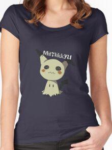 Pokemon Sun Moon Mimikkyu Women's Fitted Scoop T-Shirt