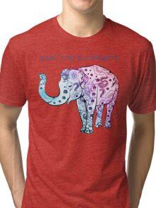 Paisley Elephant Tri-blend T-Shirt