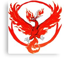 Team Valor pokemon go red flames fire Canvas Print