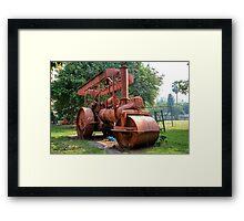Abandoned Steam Roller Framed Print
