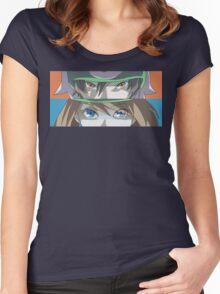 Pokemon Rivals - Ruby and Sapphire - Brendan and May Women's Fitted Scoop T-Shirt