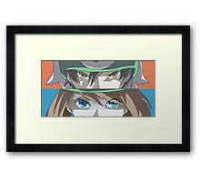Pokemon Rivals - Ruby and Sapphire - Brendan and May Framed Print
