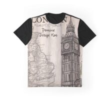 Vintage Travel Poster London Graphic T-Shirt