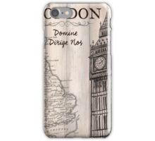 Vintage Travel Poster London iPhone Case/Skin