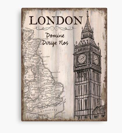 Vintage Travel Poster London Canvas Print