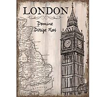 Vintage Travel Poster London Photographic Print