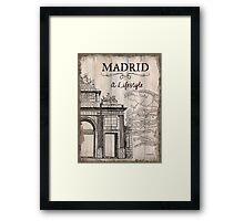 Vintage Travel Poster Madrid Framed Print