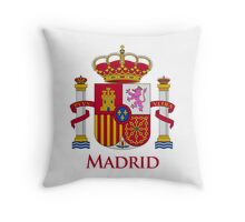 Madrid Shield of Spain Throw Pillow