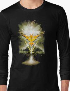 Team Instinct Yellow pokemon go Long Sleeve T-Shirt