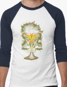 Team Instinct Yellow pokemon go Men's Baseball ¾ T-Shirt