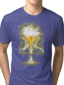 Team Instinct Yellow pokemon go Tri-blend T-Shirt