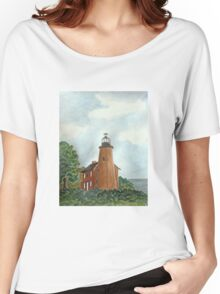 Charlotte Genesee Lighthouse Women's Relaxed Fit T-Shirt