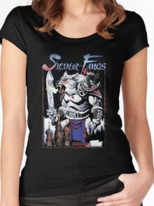 Apocalypse Tribe: Silver Fangs Revised Women's Fitted Scoop T-Shirt