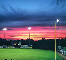 Baseball Field sunset by lalisa1234