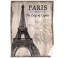 Vintage Travel Poster Paris Poster