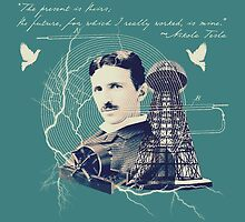 Nikola Tesla - with Quote  by Rayvh