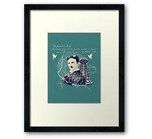 Nikola Tesla - with Quote  Framed Print