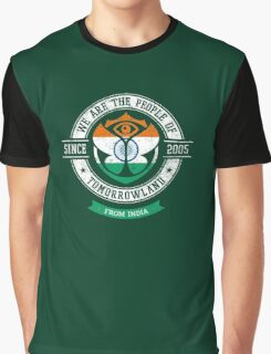 People of Tomorrowland Flags logo Badge - India - Inde - Indian Graphic T-Shirt