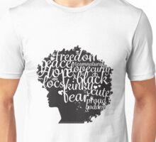 Afro Text Unisex T-Shirt