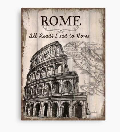 Vintage Travel Poster Rome Canvas Print