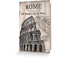 Vintage Travel Poster Rome Greeting Card