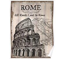 Vintage Travel Poster Rome Poster