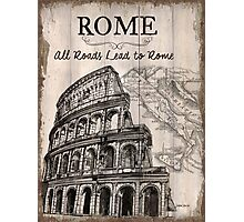 Vintage Travel Poster Rome Photographic Print