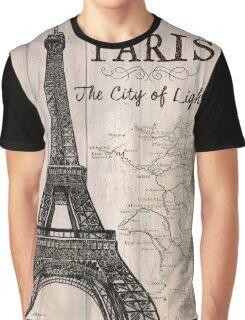 Vintage Travel Poster Paris Graphic T-Shirt