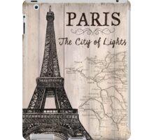 Vintage Travel Poster Paris iPad Case/Skin