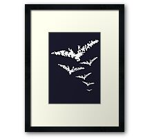 Chalk Bats Framed Print