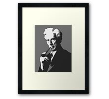 Thinkers - Bertrand Russell (gray) Framed Print