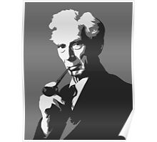 Thinkers - Bertrand Russell (gray) Poster