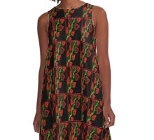 ROSE BUD-WILD ROSES A-Line Dress