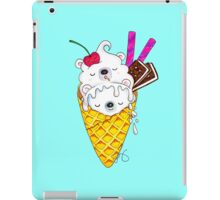 Polar Bear Ice Cream – Shhh, they're sleeping! iPad Case/Skin