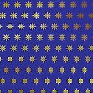Gold Stars on Royal Blue Products by Vickie Emms