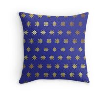 Gold Stars on Royal Blue Products Throw Pillow