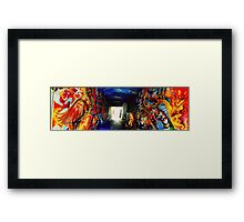 Graffiti Tunnel Framed Print