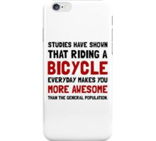 Bicycle More Awesome iPhone Case/Skin