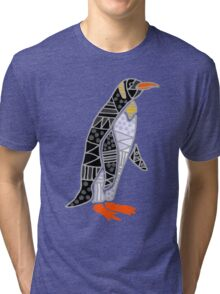Cool Funky Emperor Penguin Art Tri-blend T-Shirt